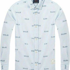 Scotch & Soda Indigo Lamplight Button Down Shirt
